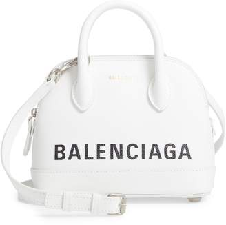 Balenciaga XXS Ville Logo Leather Crossbody Satchel