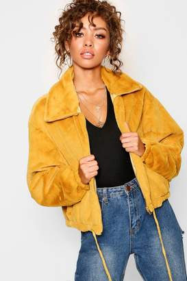 boohoo Super Soft Faux Fur Collared Jacket