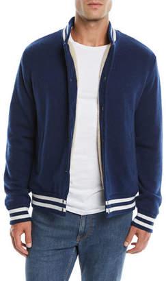 Neiman Marcus Men's Cashmere Baseball Jacket