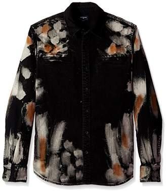 True Religion Men's Long Sleeve Hyde Wash Woven Shirt