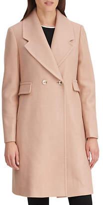 Karl Lagerfeld PARIS Double-Breasted Wool-Blend Reefer Coat