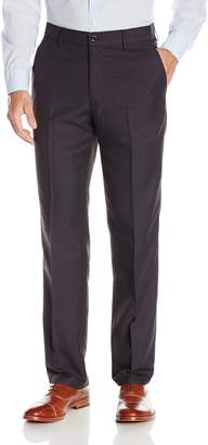 Haggar Men's Performance Solid Gabardine Straight Fit Plain Front Slack