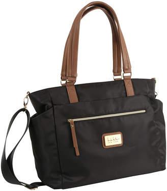 0c6ffcc869 Nicole Miller Zip-Top Nylon Tote Bag w  Pullout Pouches