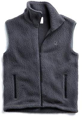 Todd Snyder + Champion Polartec Sherpa Vest in Charcoal