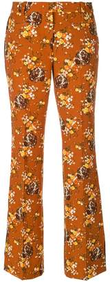 Coach floral print flared trousers
