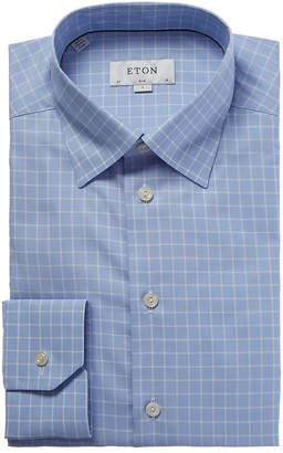 Eton Slim Fit Windowpane Dress Shirt
