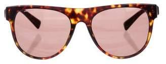 Versace Tortoiseshell Flat Top Sunglasses