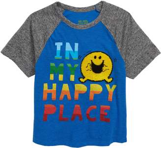Mr Men & Little Miss Happy Threads x Mr. Men Little Miss In My Happy Place Raglan T-Shirt