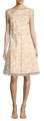 Marc Jacobs Belted Gored A-Line Dress