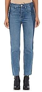 Helmut Lang WOMEN'S STRAIGHT-LEG JEANS - LIGHT BLUE MIX SIZE 24