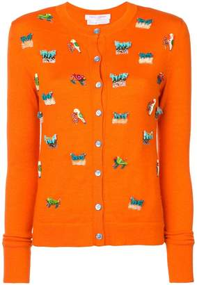 Carolina Herrera animal embroidery cardigan