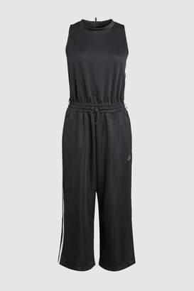 Next Womens adidas Black 3 Stripe Snap Romper