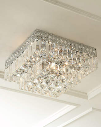 Five-Light Crystal Flush-Mount Ceiling Fixture