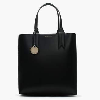 Emporio Armani Frida Tall Black Textured Shopper Bag 2dabeaf3ad01c