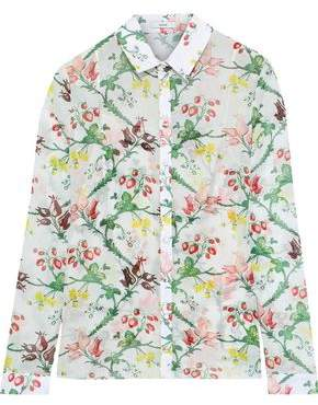 Erdem Cecilia Printed Cotton-gauze Shirt
