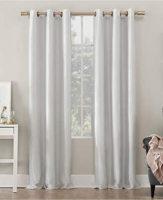 "Sun Zero Bardot Dupioni Faux Silk 100% Blackout Grommet Curtain Panel, 40"" W x 63"" L"