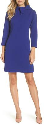 Eliza J Bow Neck Crepe Shift Dress