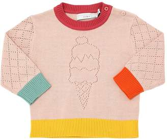 Stella McCartney Ice Cream Perforated Cotton Sweater