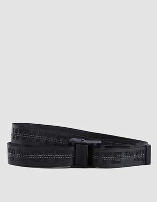 Off-White Off White Industrial Belt In Black