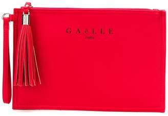 Gaelle Bonheur tassel zip clutch bag