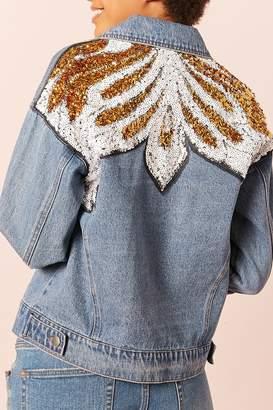 Forever 21 Sequin Denim Jacket
