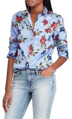 Lauren Ralph Lauren Floral Cotton Shirt