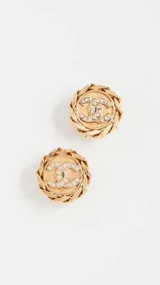 Chanel What Goes Around Comes Around Chain Border Clip On Earrings