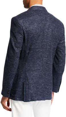 English Laundry Men's Knit Two-Button Blazer, Navy