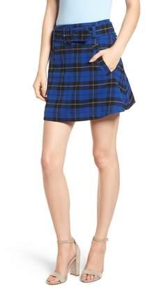 BP Belted Plaid Skirt