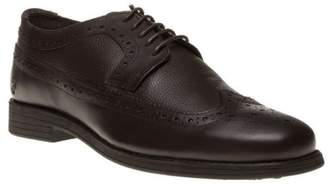 Farah New Mens Classic Brown Tamworth Leather Shoes Brogue Lace Up