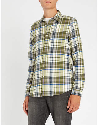 Paul Smith Checked-pattern tailored-fit cotton shirt