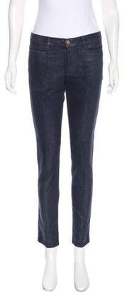 MiH Jeans Mid-Rise Straight-Leg Pants w/ Tags