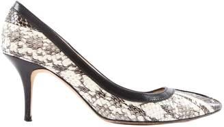 Manolo Blahnik Grey Water snake Heels