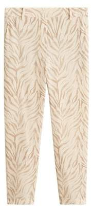 MANGO Animal print suit trousers