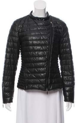 Moncler Altus Leather Coat