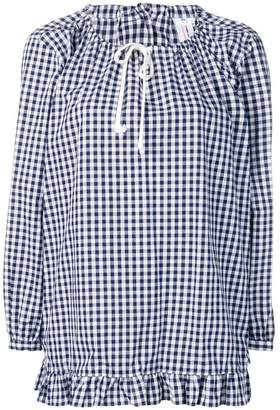 Comme des Garcons gingham ruffle top