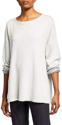 Eileen Fisher Jacquard Knit Long-Sleeve Sweater