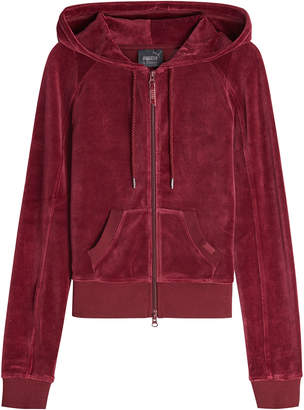 FENTY PUMA by Rihanna Velour Fitted Zip-Up Track Jacket