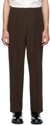 Our Legacy Brown Borrowed Chino Trousers