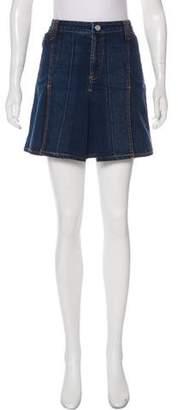 Dolce & Gabbana Mini Pleated Denim Skirt