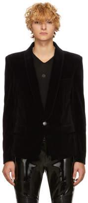 Balmain Black Velvet Chale Blazer