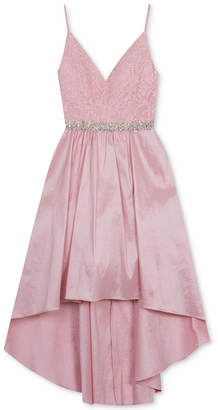 Rare Editions Big Girls Plus Glitter-Lace Bodice Dress