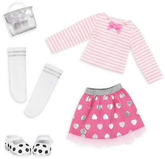 GLITTER GIRLS Deluxe Glitter Top and Skirt Outfit