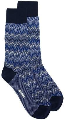 Missoni zig zag knit socks