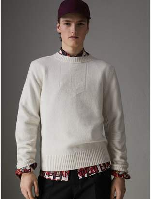 Burberry Anchor Intarsia Merino Wool Cashmere Sweater