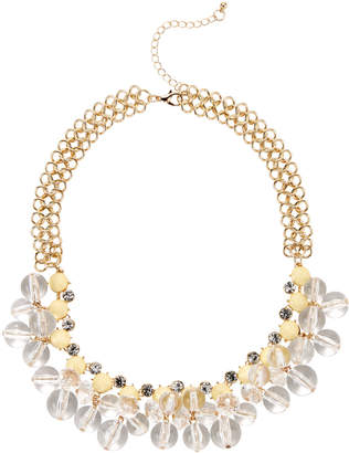 Catherine Stein Gold-Tone Clear Accented Statement Necklace
