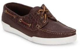 Eastland Textured Tie-Up Leather Boat Shoes