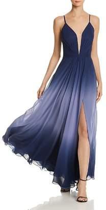 Aqua Ombré Chiffon Gown - 100% Exclusive