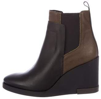 Miista Leather Wedges Boots