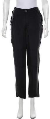 Magaschoni Silk Straight-Leg Pants